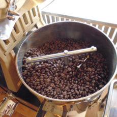 アイスコーヒーリキッド用焙煎中